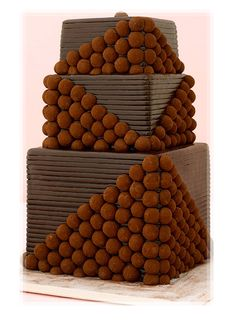 Groom's Cake with Chocolate Truffles - more a beautiful statue than a cake to dig into...