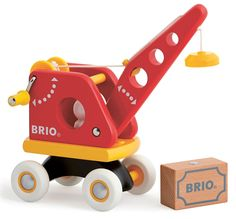 BRIO 30,428 - Grúa roja con la carga, Destreza juguete: Amazon.es: Juguetes y…
