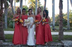 Formal Portrait Of Bride & bridesmaids