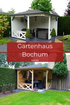 Eine schickes Gleichgewicht zwischen Terrassenüberdachung und Gartenhaus. Das Gartenhaus Bochum bietet dir beides. Mit den offenen Seiten, wirkt es freundlicher. 😊 Einfach eine super Sitzecke zum genießen. 😎☕