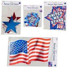 Patriotic Cutouts Assorted Sizes(Pack of 72) Sears