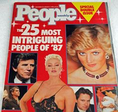 People Magazine 25 Most Intriguing People of '87 Including Princess Di, Gary Hart, Ronald Reagan, Baby Jessica and AIDS Patient Zero #10