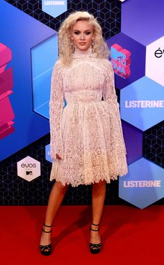 """Zara Larsson, from MTV EMAs 2016 Red Carpet Arrivals  The """"Never Forget You"""" and """"Ain't My Fault"""" singer steps out wearing Ermando Scervino."""