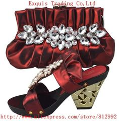 66.33$  Watch here - http://alix4a.worldwells.pw/go.php?t=2010381451 - Shoes woman! 2015,New Comming Italian Matching shoes and bag for african wedding and party with free shipping,1308-L6 wine color 66.33$