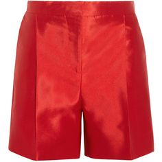 Valentino Tailored silk-twill shorts ($980) ❤ liked on Polyvore