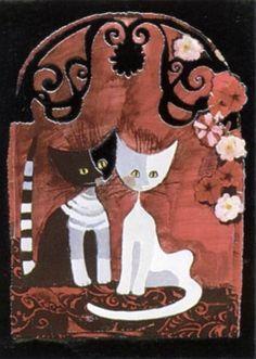 """Cats"" par Rosina Wachtmeister"