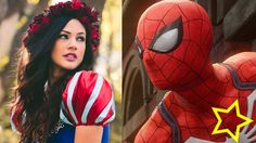 Spiderman Snow whiter vs Captain American - Superheroes in real life