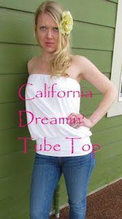 California Dreamin' Tube Top Tutorial