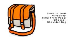 Eclectic Xmas Giveaway: Jump From Paper 'Cheese!' Shoulder Bag