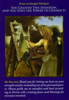 This card is a reminder that you are a powerful creator, made in the image and likeness of the Divine Creator... (click image to keep reading)
