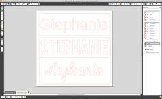 Silhouette Stencil Alphabet Tutorial