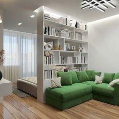 Studio Apartment Design, Small Apartment Design, Studio Apartment Decorating, Small Room Design, Apartment Layout, Home Room Design, Home Interior Design, House Design, Studio Apartments