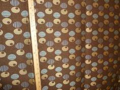 Modern Fabric Boucle Circles Brown Blue Caramel by anitavee, $9.10