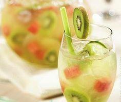 Kiwi Melon Sangria -- Can't wait to make this!