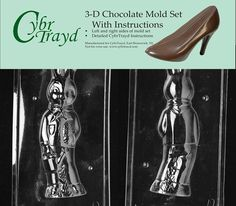 Cybrtrayd E303AB Chocolate Candy Mold, Includes 3D Chocolate Molds Instructions and 2-Mold Kit, Boy Bunny >>> Check this awesome image  : Candy Making Supplies