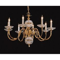(CLICK IMAGE TWICE FOR UPDATED PRICING AND INFO) #home #ceiling #homeimprovement #homedecor #lighting  #lights #lightandfixture #chandeliers see more chandeliers at http://www.zbrands.com/Chandeliers-C35.aspx - Dainolite Chandeliers - Crystorama Chandeliers - Williamsburg Eight Light Chandelier in Polished Brass