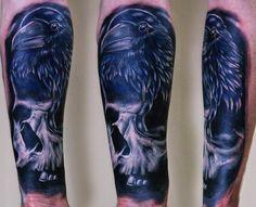 crow and skull #tattoo
