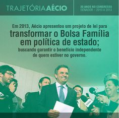 O Aécio vai ajudar ainda mais pessoas com a mudança no Bolsa Família. #ParaMudarOBrasil #AecioNeves #BolsaFamilia