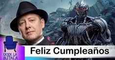 Antes de que el día termine queremos desearle un feliz cumpleaños a otro actor que estuvo en la #ButacaBirthday hoy. Se trata de #JamesSpader uno de los villanos más odiados de #Avengers. Tú también lo odiaste en #AvengersAgeOfUltron?