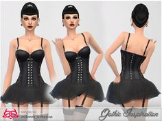 Gothic inspiration Found in TSR Category 'Sims 4 Female Everyday'