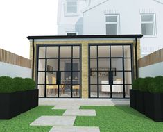 Crittall Extension, Rear Extension, Extension Ideas, Open Plan Kitchen Diner, Open Plan Kitchen Living Room, French Door Windows, French Doors, Building Design, Building A House