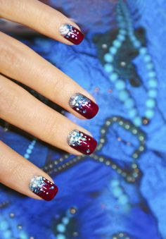 Holiday nails with a manicure with claret varnish and sparkles on the decorative background. Holiday nails with a manicure with claret varnish and sparkles on the decorative background. Winter Nail Designs, Christmas Nail Designs, Winter Nail Art, Winter Nails, Nail Art Designs, Christmas Patterns, Christmas Ideas, Simple Christmas, Nails Design