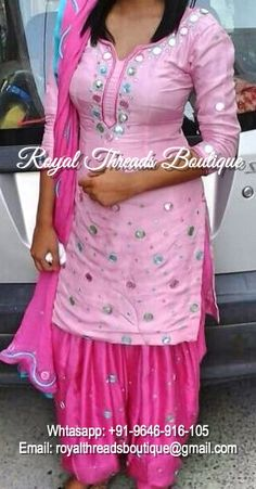 Get this custom made at Royal Threads Boutique. To place an order or for any inquiry feel free to whatsapp us @ +91-9646-916-105 or email us at royalthreadsboutique14@gmail.com Punjabi Bride, Punjabi Suits, Salwar Suits, Indian Clothes, Indian Dresses, Indian Outfits, Shalwar Kameez, Patiala, Boutique Suits