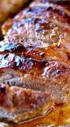 This island style pork tenderloin is both delicious and easy to make. You guys, I love pork tenderloin. It is easy to cook. It is moist. Pork Chop Recipes, Meat Recipes, Crockpot Recipes, Cooking Recipes, Healthy Pork Tenderloin Recipes, Recipies, Game Recipes, Pork Marinade Recipes, Carne Asada