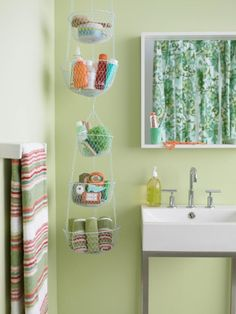 Hanging basket bathroom storage | | 19 Brilliant Bathroom Storage Ideas