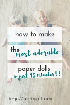These DIY paper dolls were so easy to make, and the girls LOVE the fact that…