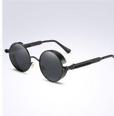 6c70e346b7 2018 Hot Gold Metal Polarized Sunglasses Retro Vintage Shield 10 Variants  Available