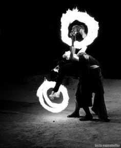 Fire performers of The Night Circus