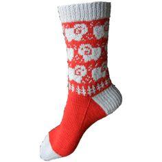Knit Socks: Sheep may safely graze pattern by Caoua Coffee #free_pattern