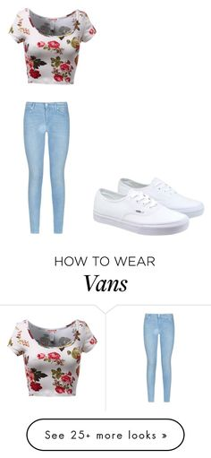 """""""Flowers and vans"""" by macyyyyyyyy on Polyvore featuring Vans, 7 For All Mankind, women's clothing, women's fashion, women, female, woman, misses and juniors"""