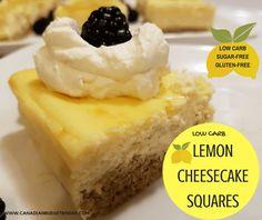 Low Carb Lemon Cheesecake Squares (Sugar-Free, Gluten-Free) - Canadian Budget Binder