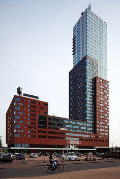 Residential tower 'Montevideo', Rotterdam Netherlands. Architect: Mecanoo