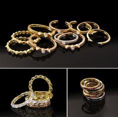Luxo no dia a dia: os aneis de falange e alianças da linha de joias