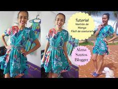 Tutorial Vestido com manga Alana Santos Blogger - YouTube