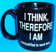 Office Coffee Cup Work Humor Funny Gift Mug Box Cubicle Joke Gift Black 12oz $12.95