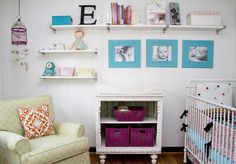 The shelves/Picture Frame idea...I love it!  With maybe some poufs beneath it?