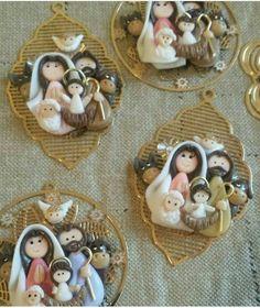 Nativity Crafts, Christmas Nativity, Christmas Crafts, Christmas Decorations, Christmas Ornaments, Polymer Clay Christmas, Polymer Clay Crafts, Catholic Crafts, Sugar Art