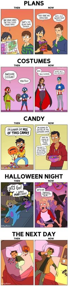 Halloween As A Kid VS. As An Adult