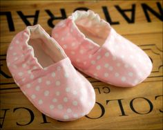 Cute Baby Booties Available! Pink Polka Dots