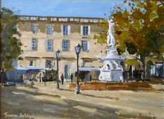PLACE CARNOT, CARCASSONNE France, Places, Pictures, Painting, Oil, Photos, Lugares, Painting Art, Paintings