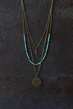 Boho necklace, layered necklace, hippie necklace, mandala necklace, boho…                                                                                                                                                                                 More #necklacesjewelrystyle