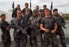 Мужчины, актеры, фильм, Неудержимые 3, оружие, бойцы
