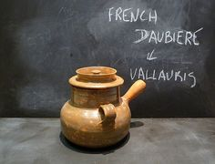 Vintage French ceramic cooking pot . Pan  by CabArtVintage on Etsy