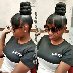 TOP KNOT BUN | BLACKHAIR  #TopKnotBun #DFWStylist #ArlingtonStylist #Mastered #LifeWithoutParole #IceCreamTop #FaithfulClient #BlackHair #BookMe #Like #Share #Comment  IG@Shayes_dvine_perfection Book online at; ➡Www.styleseat.com/shalandawilliams2