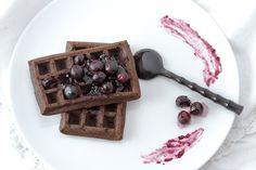 La cuina violeta: Petits luxes de diumenge {gofres de xocolata}