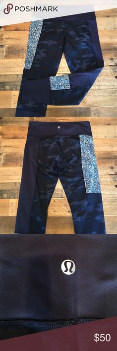 Lululemon leggings camo patchwork size 8 Lululemon leggings camo patchwork size 8 hardly worn. lululemon athletica Pants Leggings